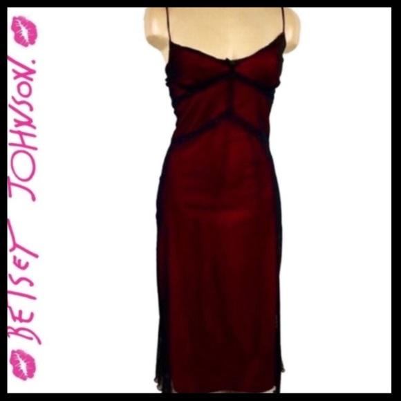 Betsey Johnson Dresses & Skirts - Betsey Johnson Black & Pink sleeveless Dress